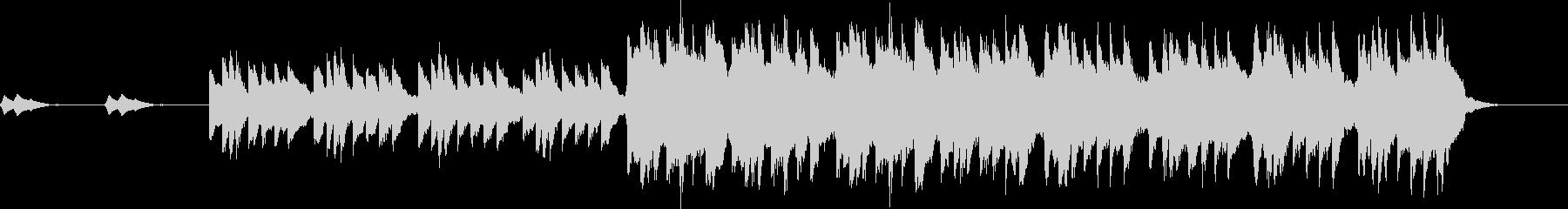 不穏ピアノの旋律が印象的なホラーバラードの未再生の波形