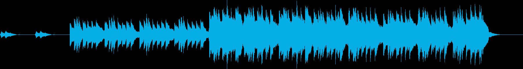 不穏ピアノの旋律が印象的なホラーバラードの再生済みの波形