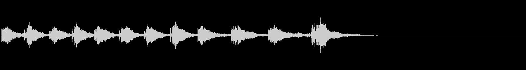 KANT和風太鼓効果音2の未再生の波形