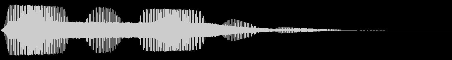 ボタン押下や決定音_ピッ!の未再生の波形