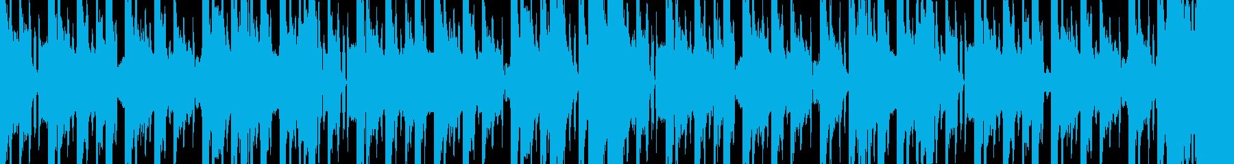 カオスなシンセビートの再生済みの波形