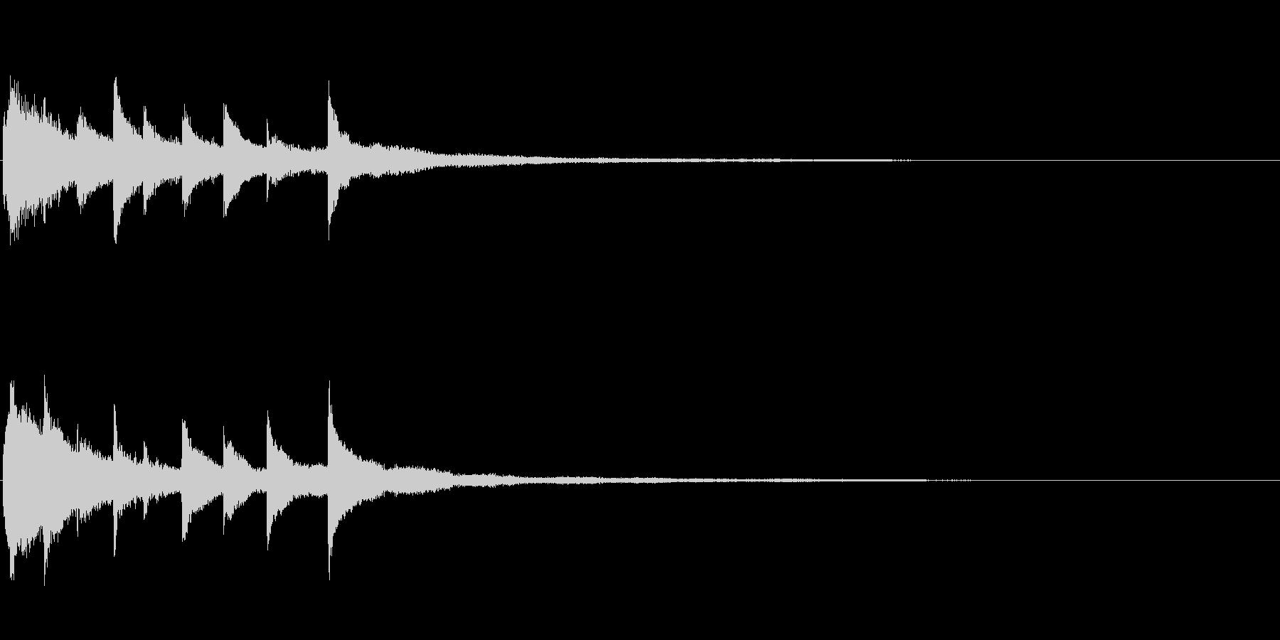 ピアノソロサウンドロゴ 優雅 大人 13の未再生の波形