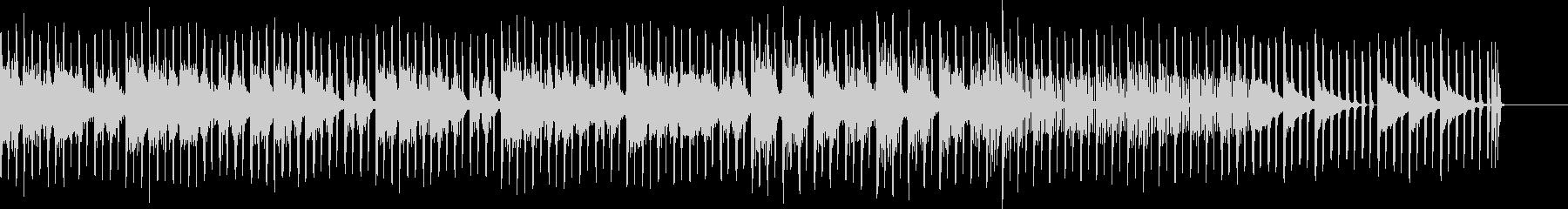 幻想的で特徴的なエレクトロ音が入った曲の未再生の波形
