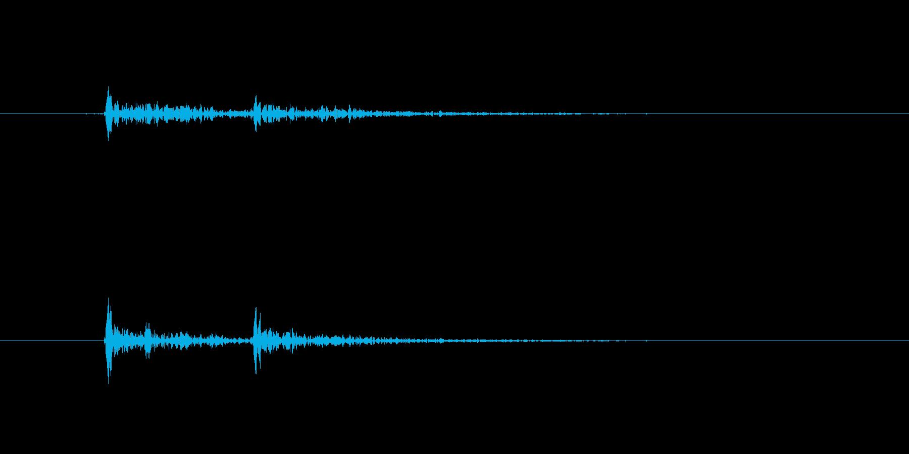 シャンパングラスセットの再生済みの波形