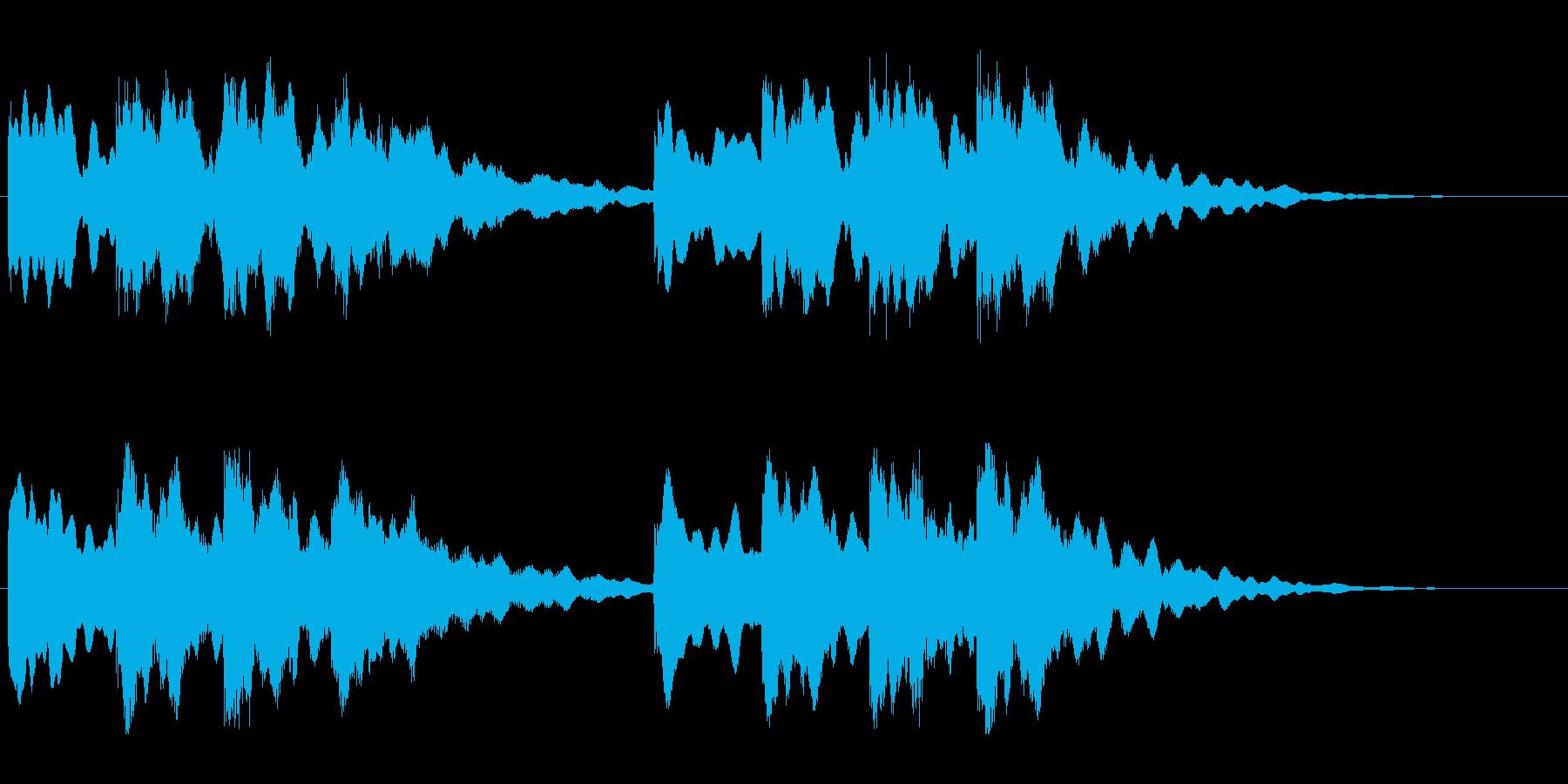 キーンコーンカーンコーン01(遅め1回)の再生済みの波形