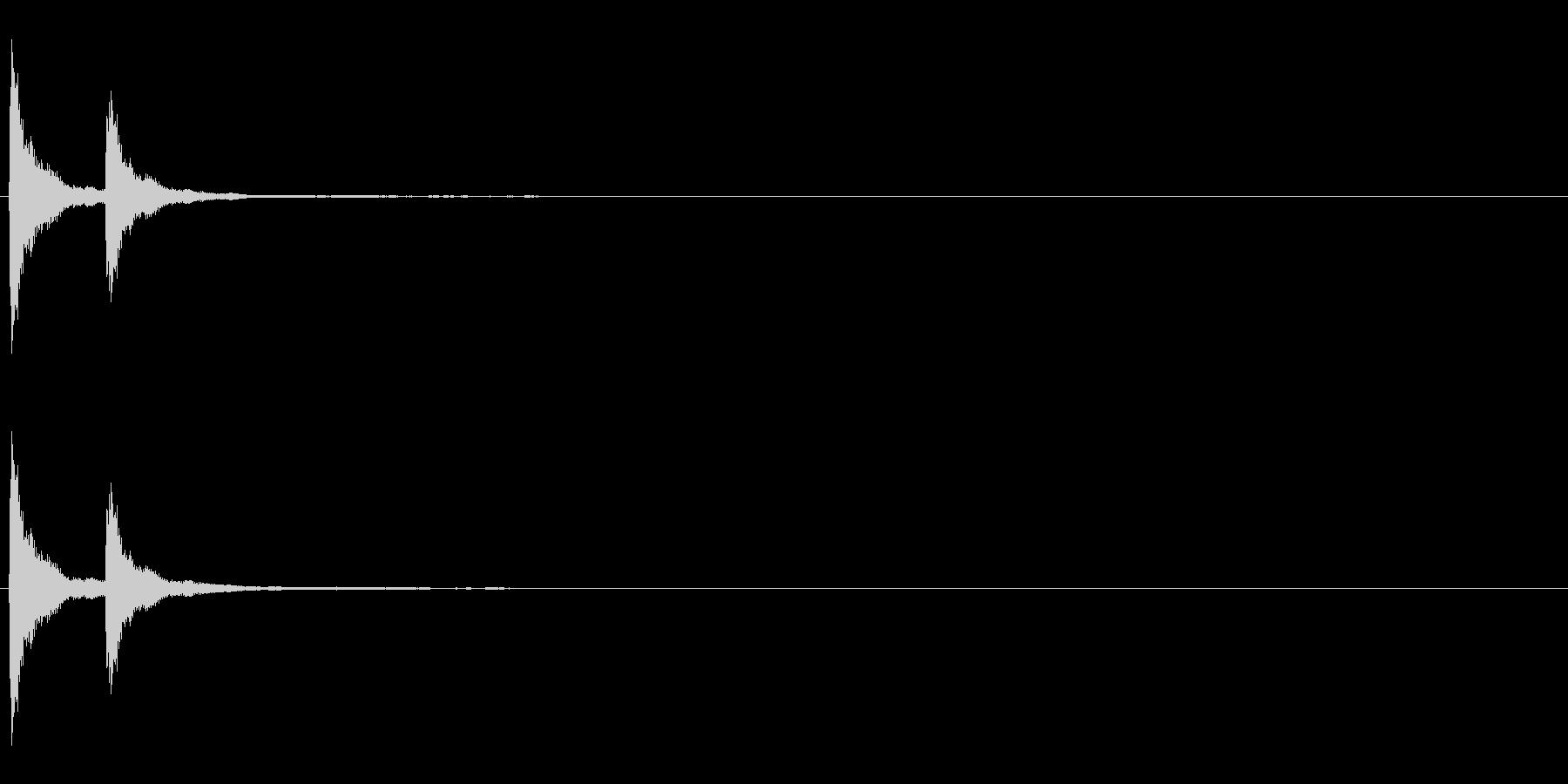 音侍「チチン」当たり鉦の連打音リバーブの未再生の波形