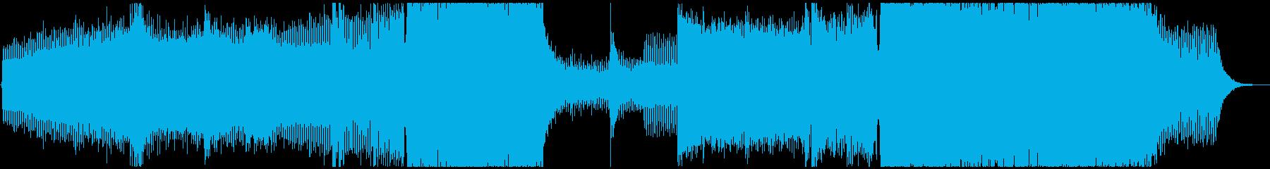 疾走感溢れるEDM/ hard coreの再生済みの波形