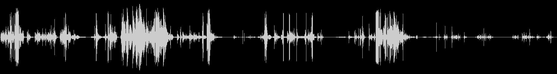 歪みデジタルグリッチの未再生の波形