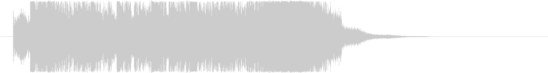 シンセをメインにした緊張感のあるジングルの未再生の波形