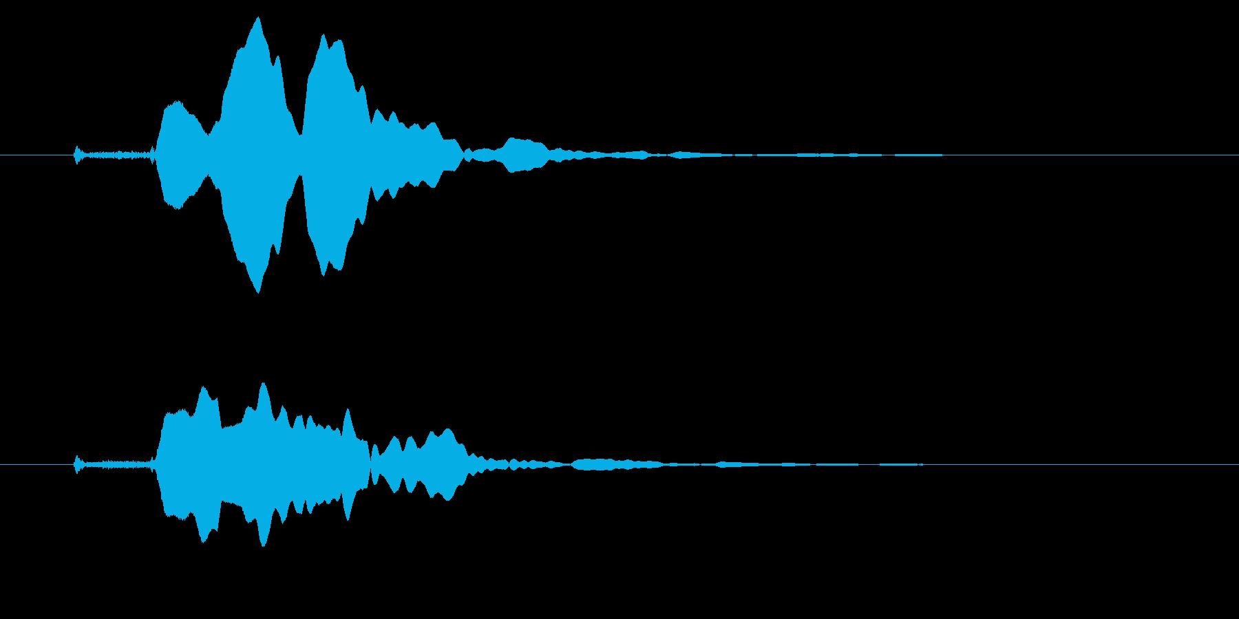 改札 ビープ音01-10(音色1 遠)の再生済みの波形