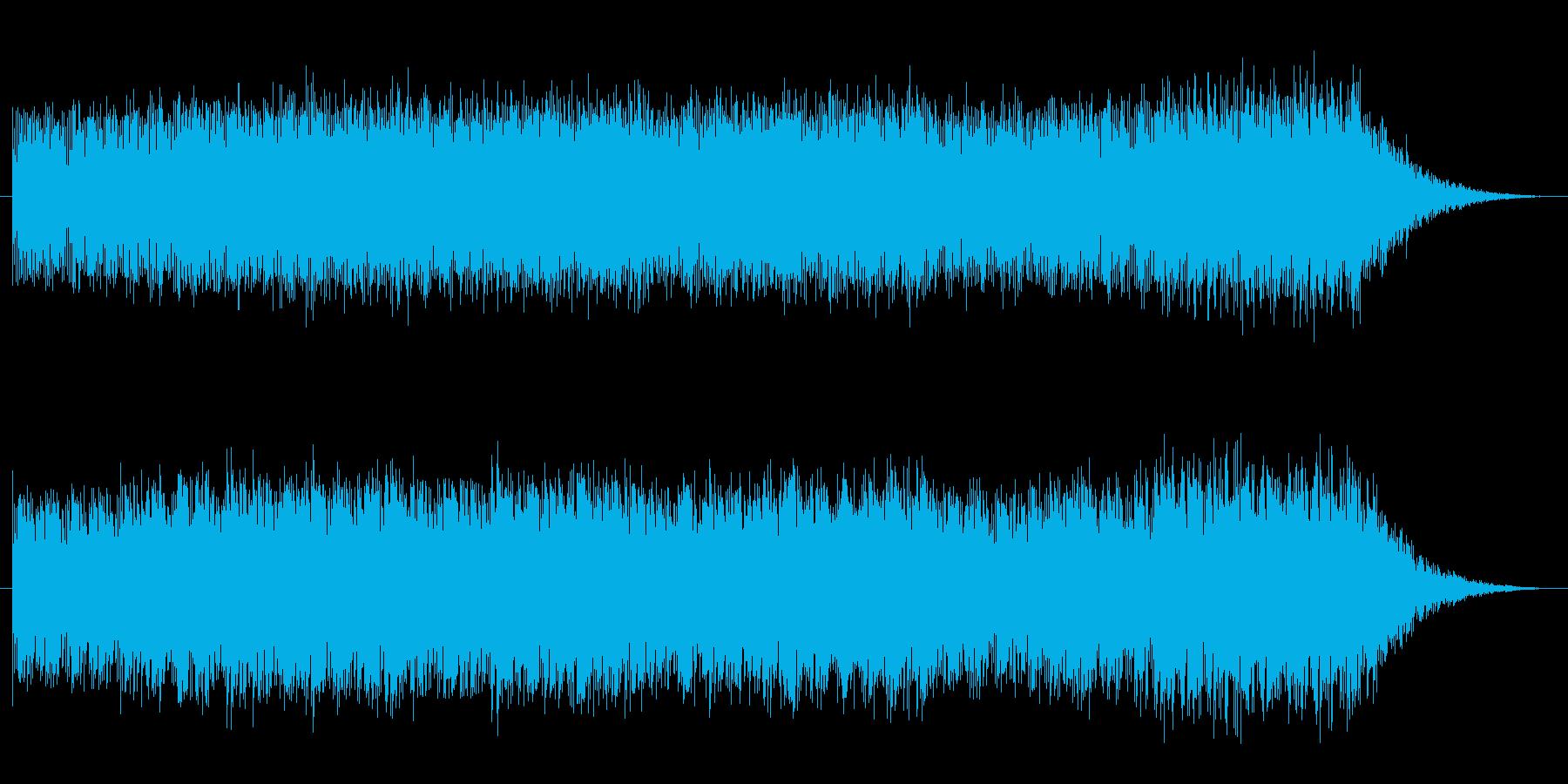 浮遊感ギターとシンセシーケンスの再生済みの波形