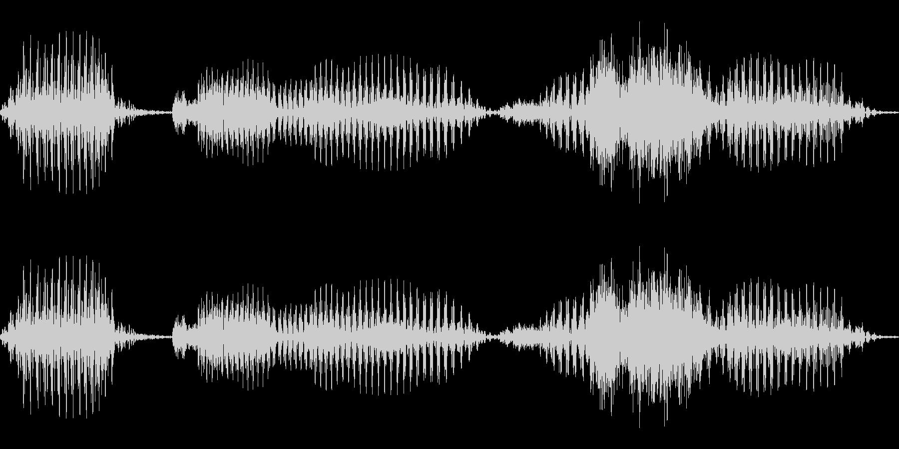 「またのお越しを」システムボイスにの未再生の波形