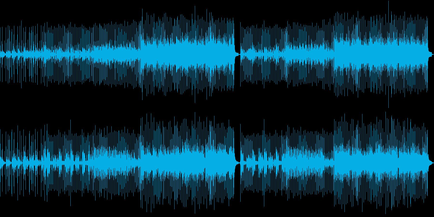 サビのメロディーが印象的なミドルテンポ曲の再生済みの波形