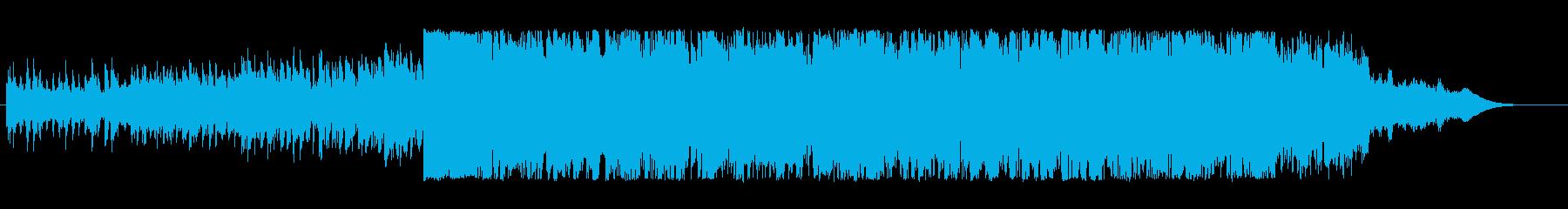 インテリ系スタイリッシュ近未来テクノCMの再生済みの波形