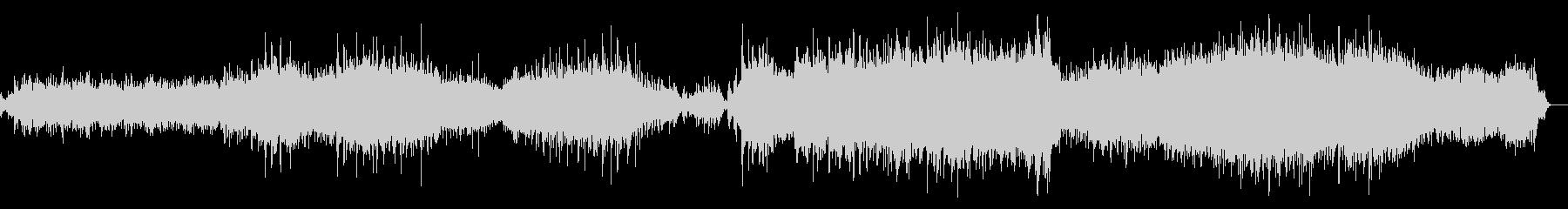 水音をコラージュしたアンビエント音楽の未再生の波形