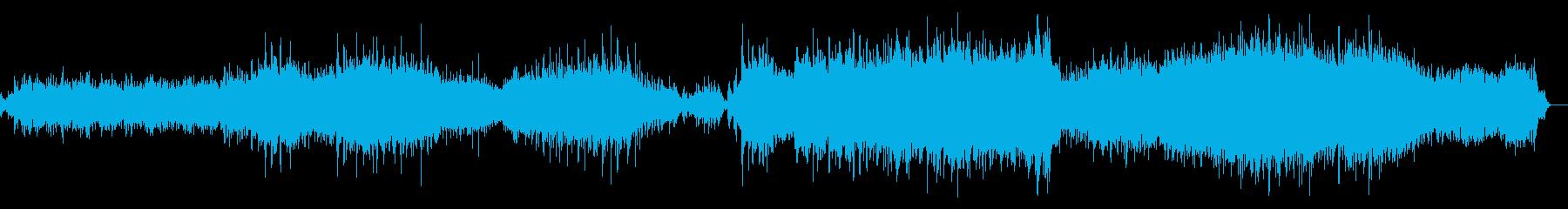 水音をコラージュしたアンビエント音楽の再生済みの波形