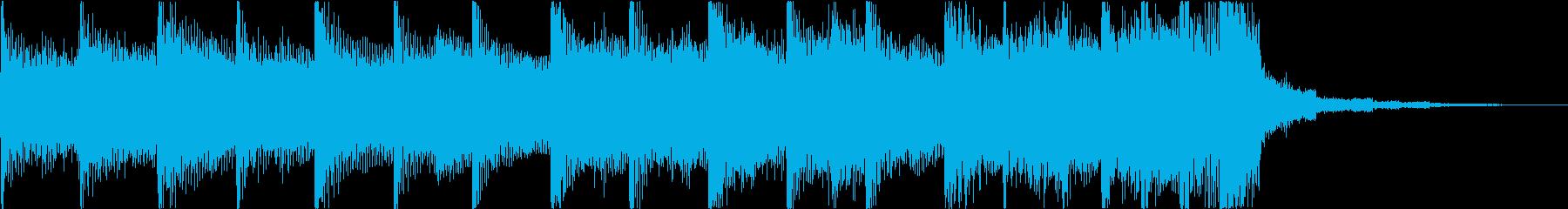 エレキソロがかっこいいロックジングルの再生済みの波形
