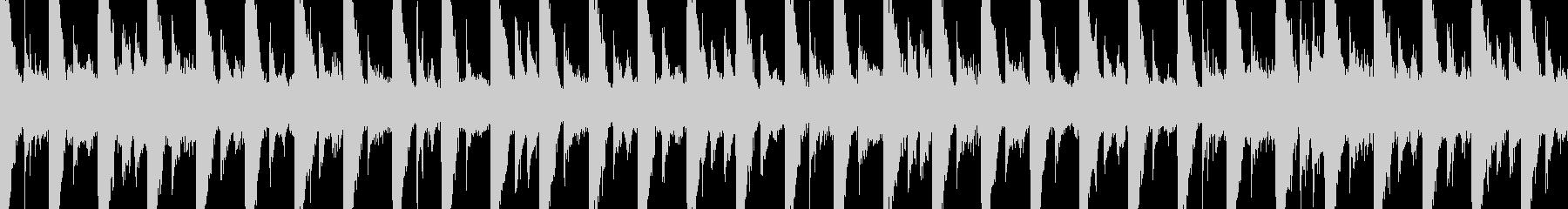短いループのリザルト風ジングルの未再生の波形