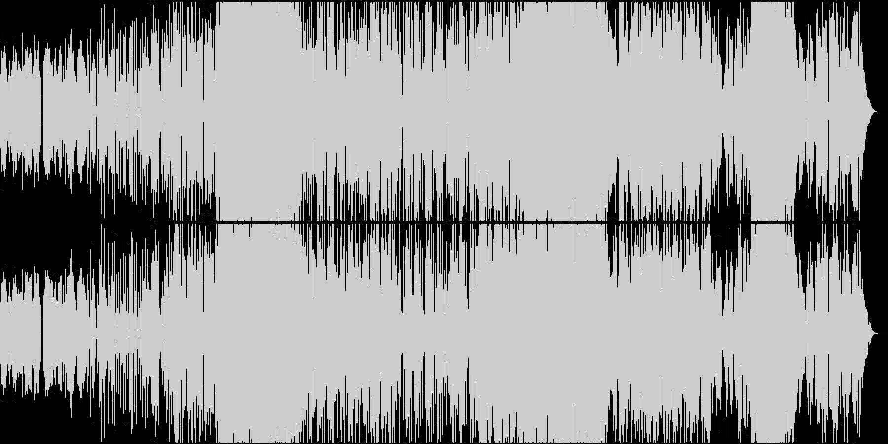 雨降るイメージのロックバラードの未再生の波形