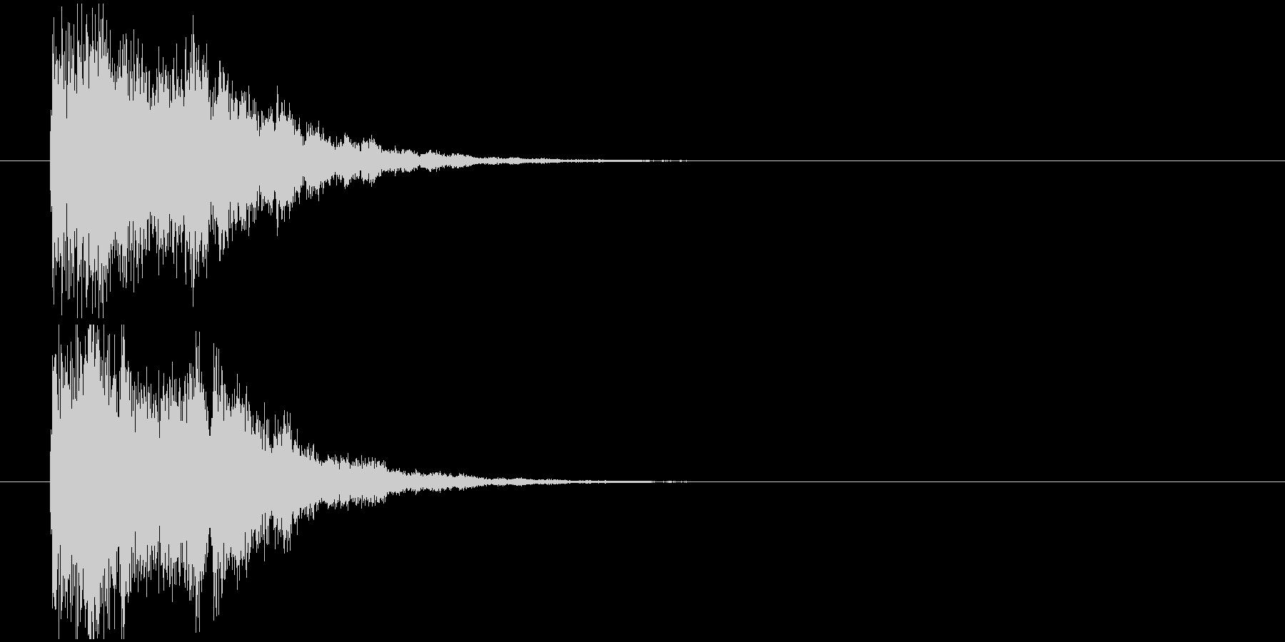 発見インパクトの未再生の波形