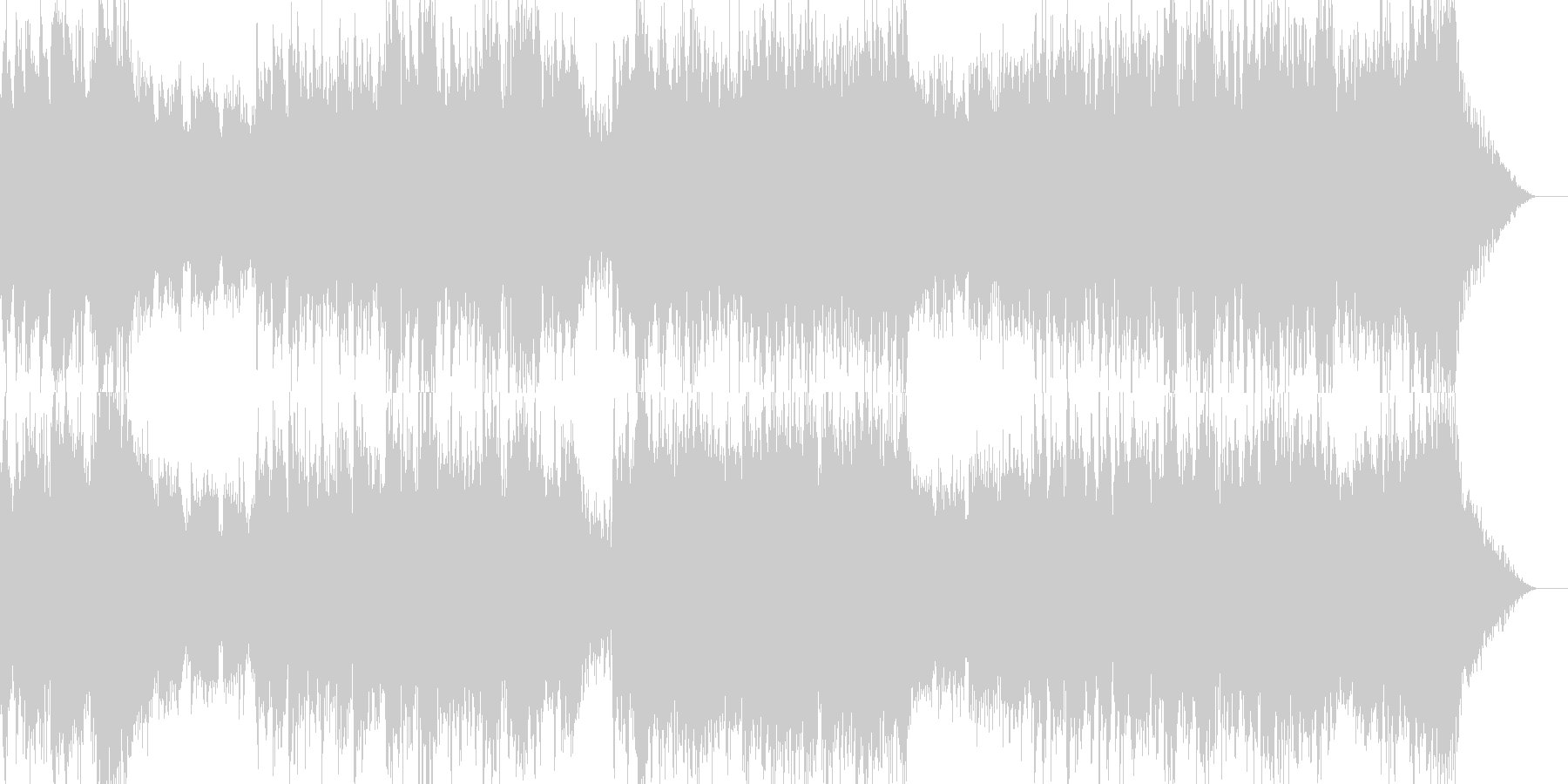 重々しいシーンに合うオーケストラBGMの未再生の波形