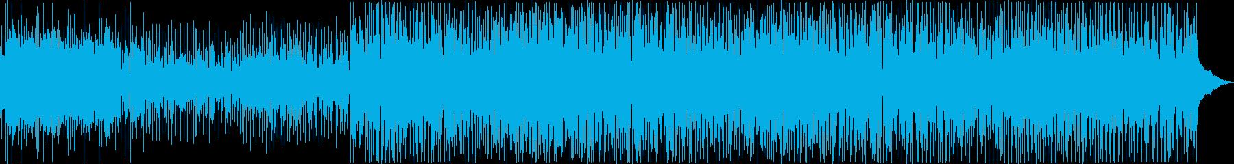 ゆったりしたおしゃれなボサノバBGMの再生済みの波形