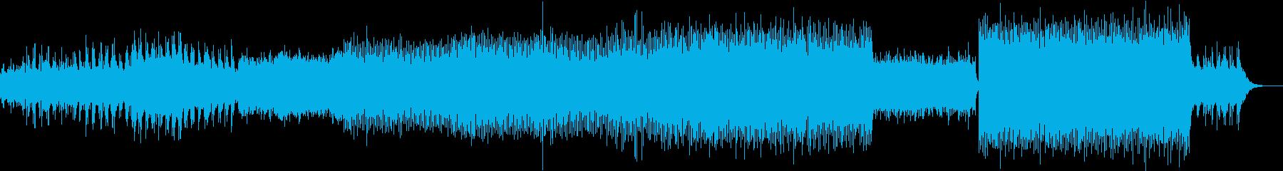 走り続けるランナーをイメージしたテクノ曲の再生済みの波形