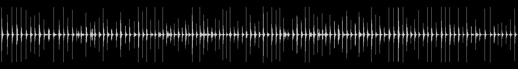 ガレキの上を走る(ガシャガシャ)の未再生の波形