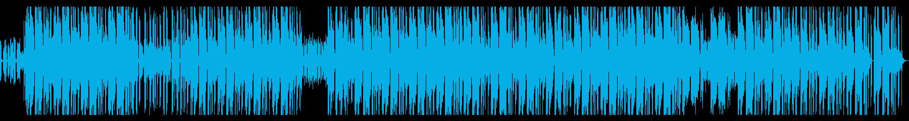 歪んだ質感のシンセ・エモ・ヒップホップの再生済みの波形