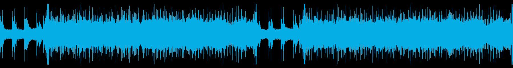 ゲーム・戦闘バトルシーン風ギターループ曲の再生済みの波形
