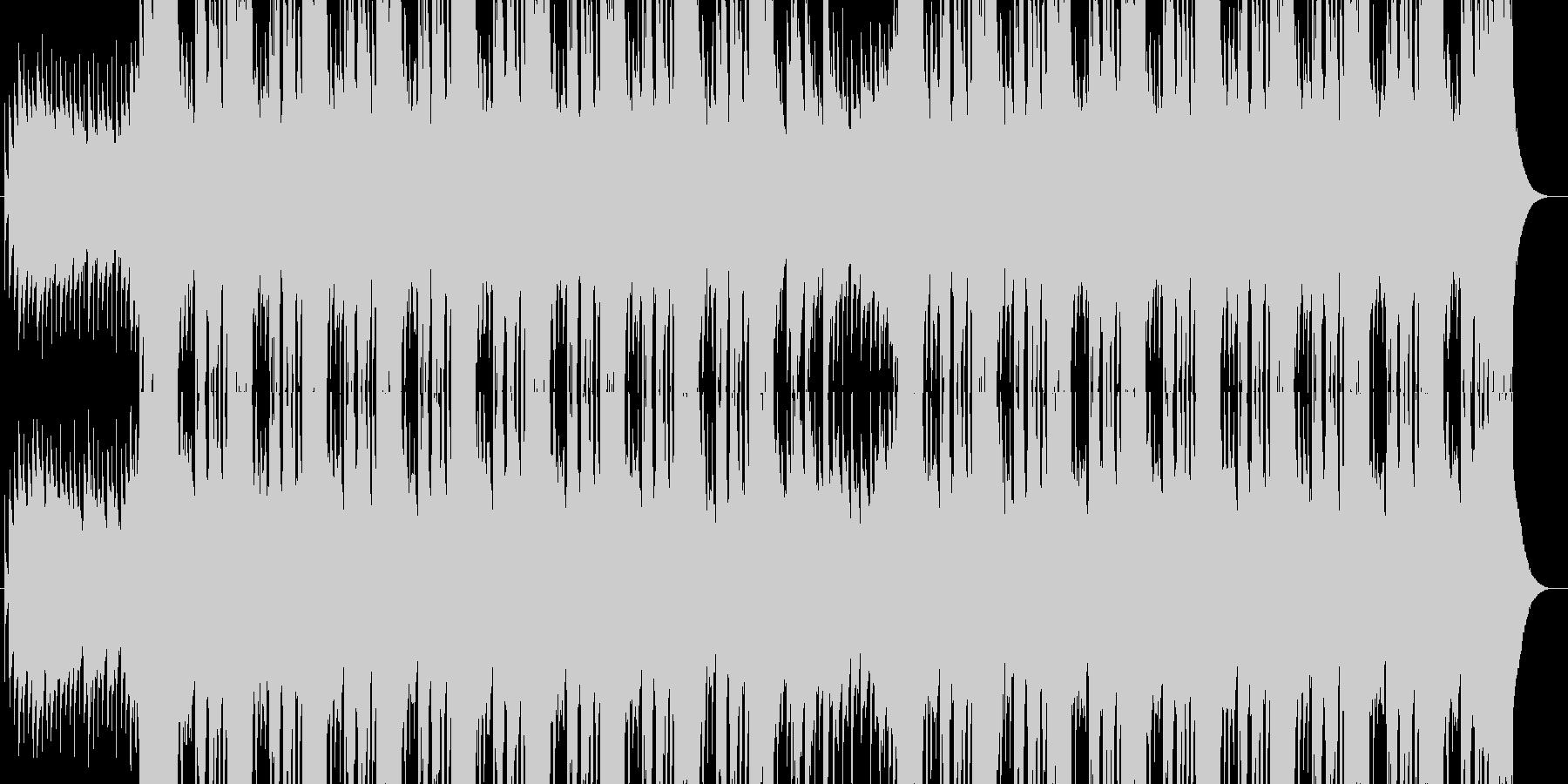 クールなエンディング映像向きギターロックの未再生の波形