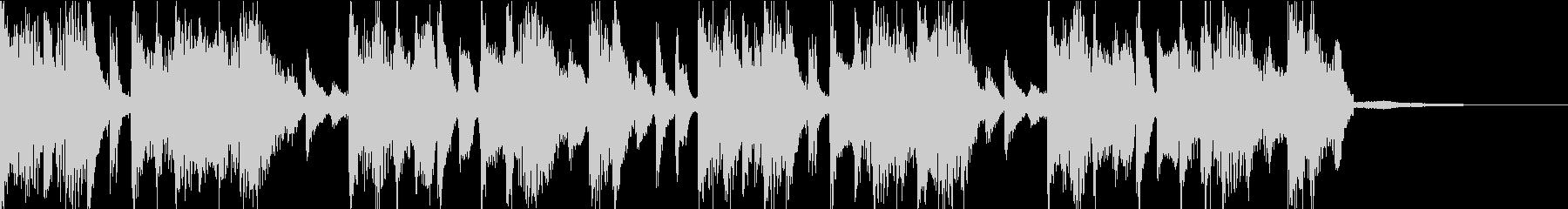 電子系なファンク感溢れるバンドジングルの未再生の波形