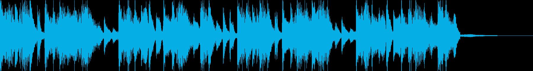 電子系なファンク感溢れるバンドジングルの再生済みの波形