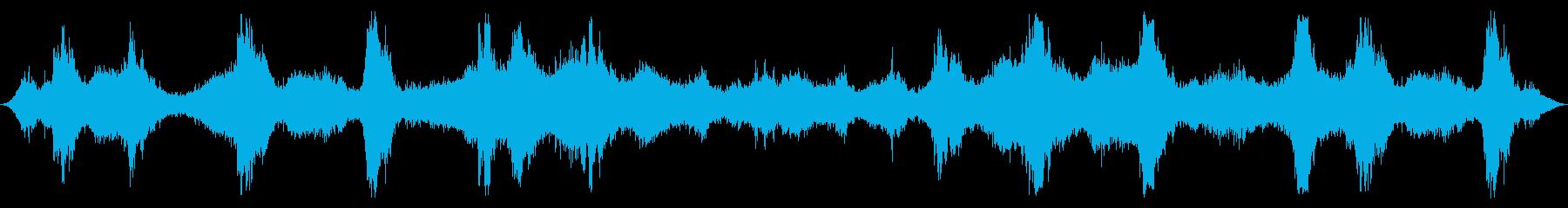 オーシャン:重い波、ラッピングクラッシュの再生済みの波形