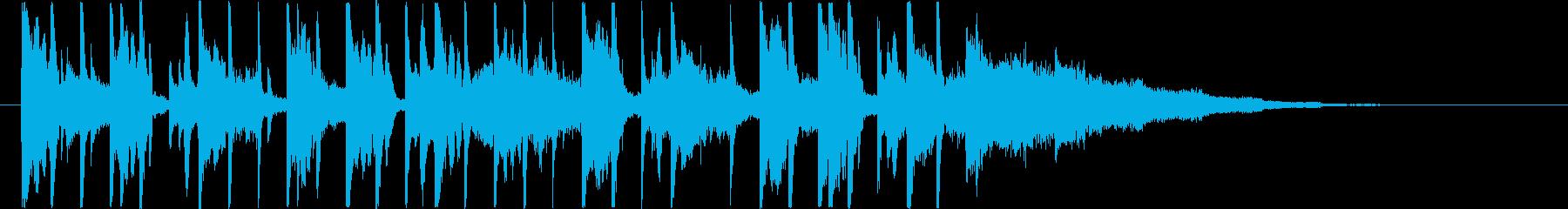 電気楽器。ロボットと機械の短い合図。の再生済みの波形