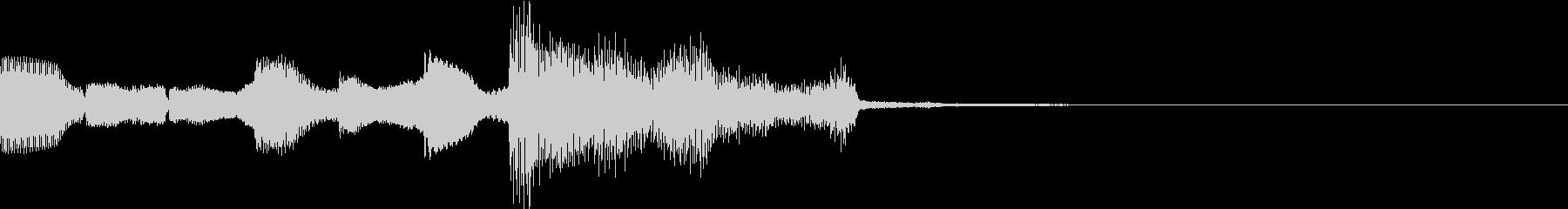 ジングル アラベスク風の未再生の波形