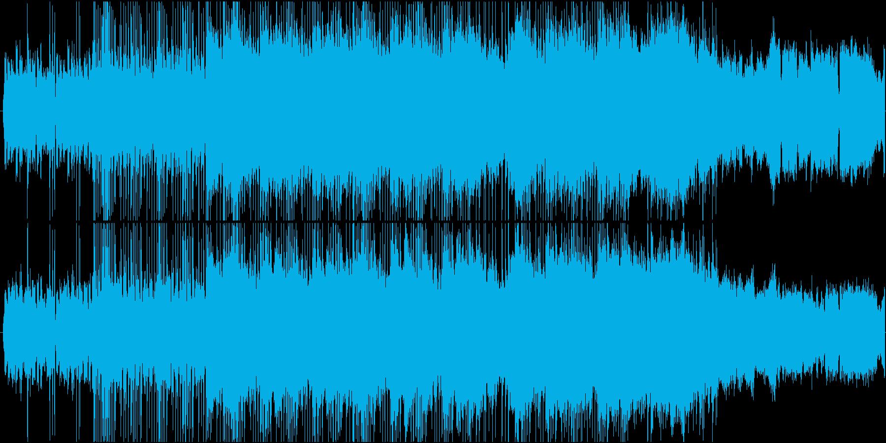混乱・困惑・不安ムードのブレイクビーツの再生済みの波形