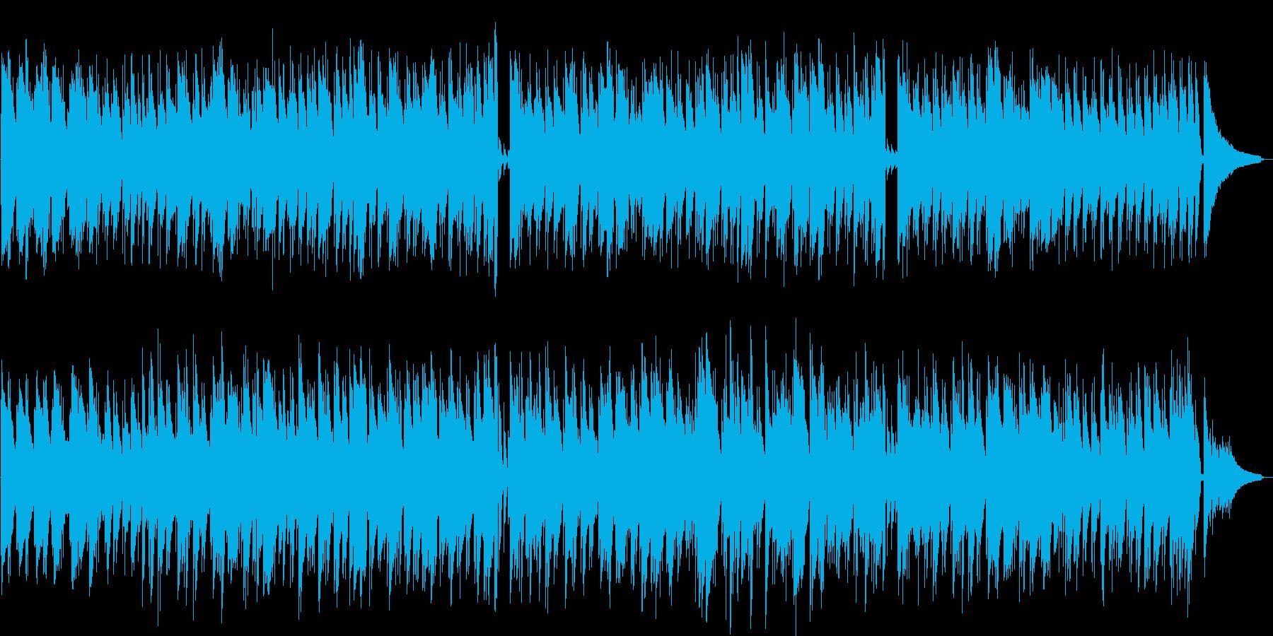 ムードあるイージーリスニング曲の再生済みの波形