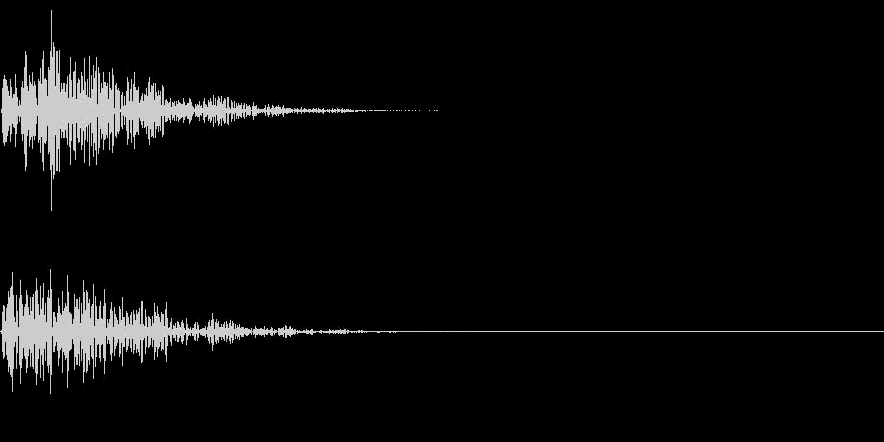 重いドーンの未再生の波形
