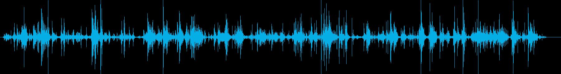 採取・探索の音(ガチャガチャ)_約15秒の再生済みの波形
