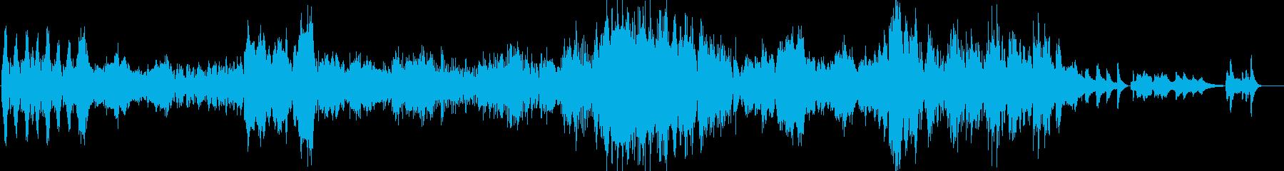 わくわくでいっぱいのピアノ曲の再生済みの波形