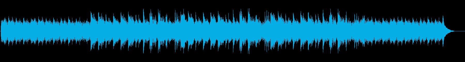 ピアノフレーズが印象的アンビエントBGMの再生済みの波形