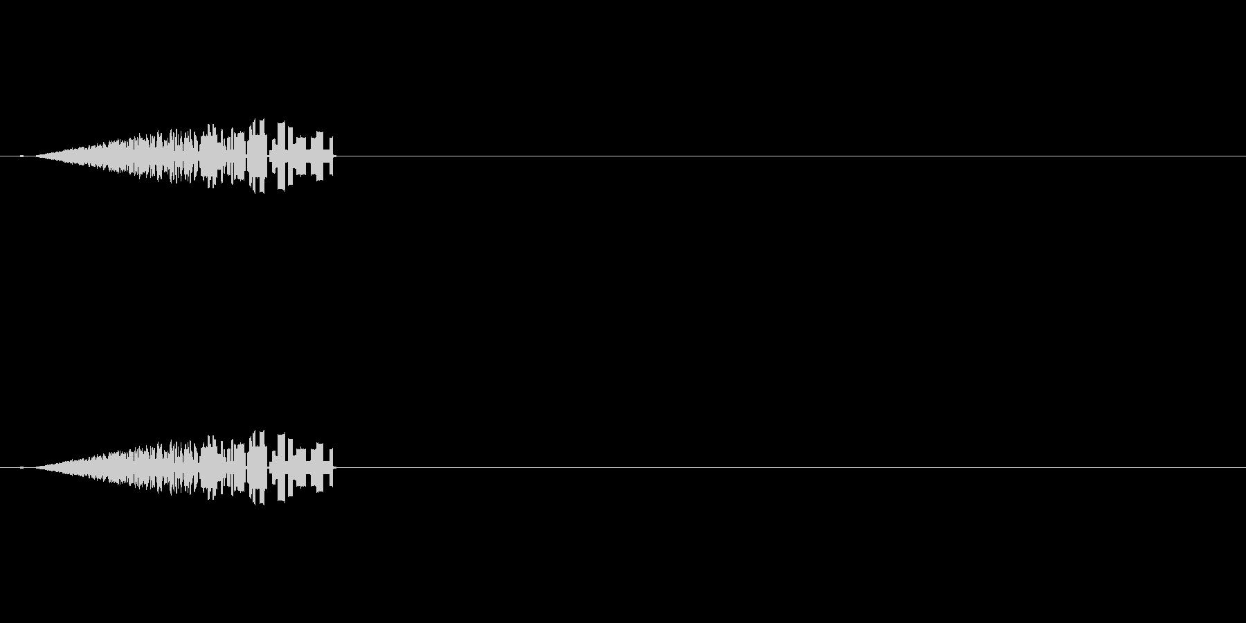 レトロな炎の効果音の未再生の波形