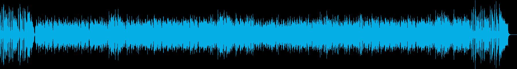 ジャズビッグバンドの軽快なボサノバの再生済みの波形