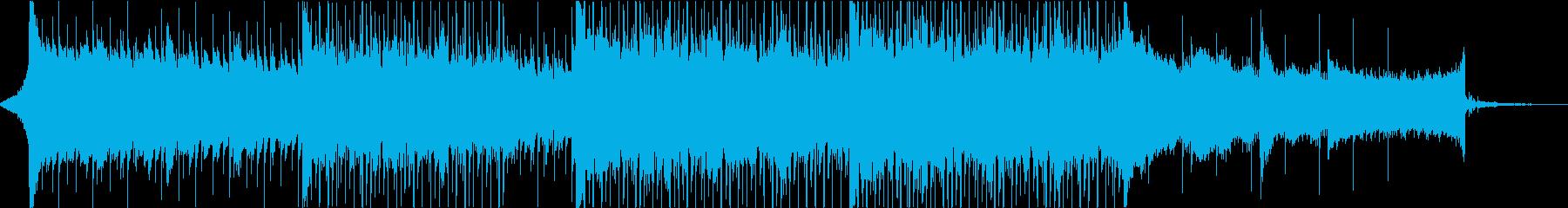 映像作品向きな爽快なBGM ショートの再生済みの波形