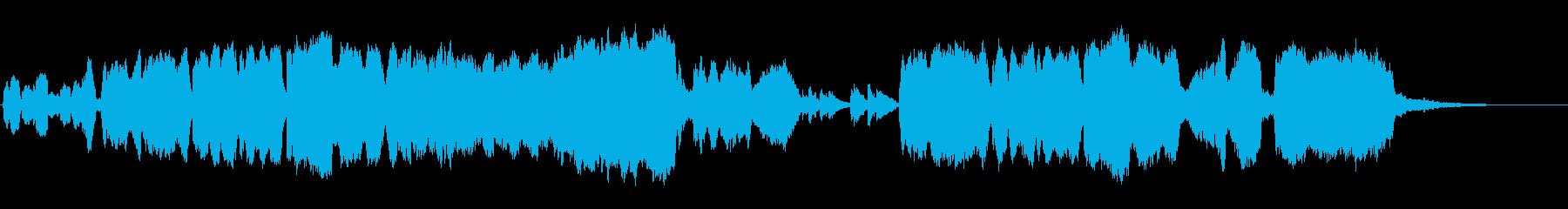 オーケストラとクラリネットの切ない曲の再生済みの波形