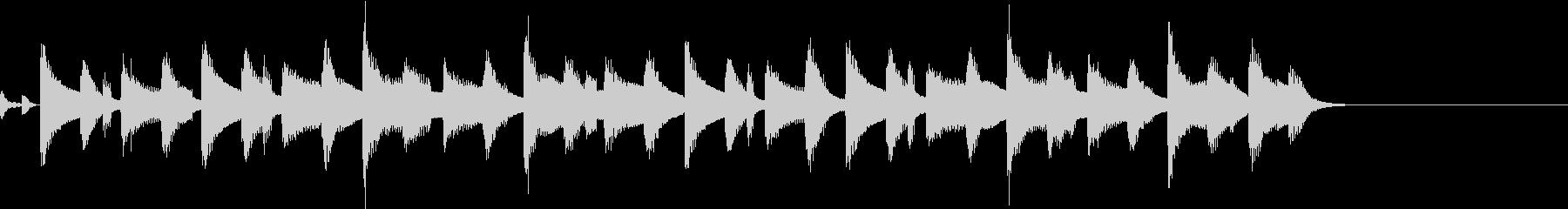 ほのぼの やさしい 日常 ジングル1の未再生の波形