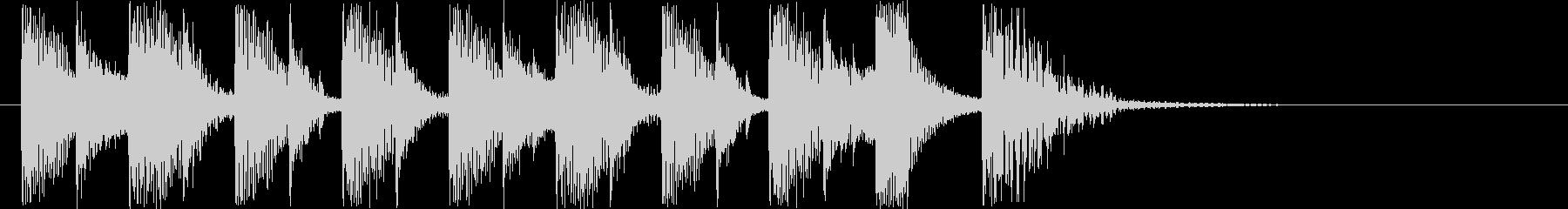 シンセサイザーによるマーチの未再生の波形
