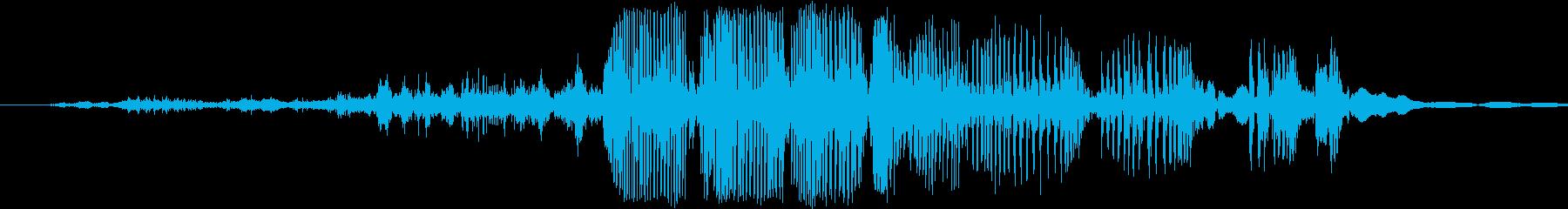 バブルリップの再生済みの波形
