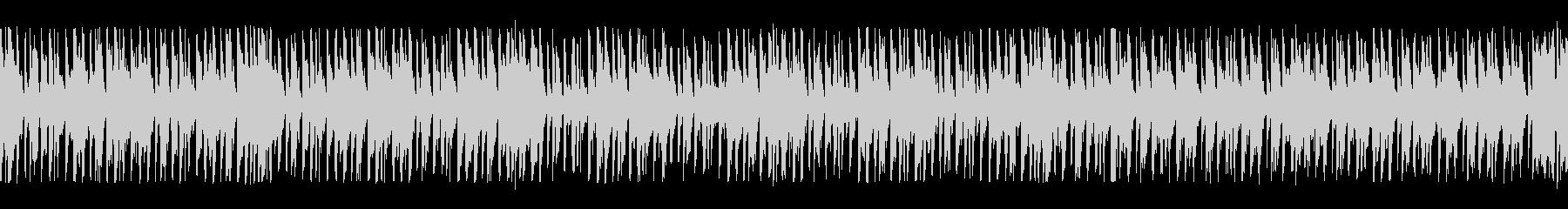 淡々と進めていくBGMの未再生の波形
